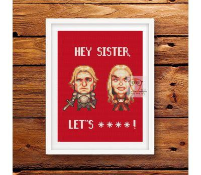 Jaime Cersei Lannister cross stitch pattern