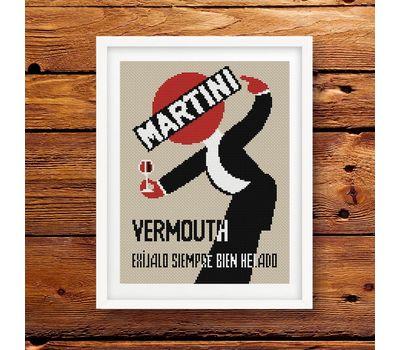 Martini cross stitch pattern