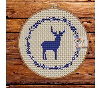 ''Scandinavian Ornament'' Christmas cross stitch pattern