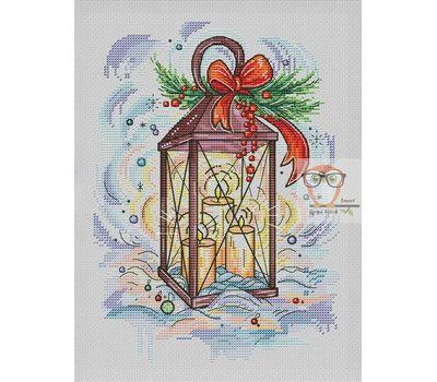 Modern Cross stitch pattern Christmas Lights}