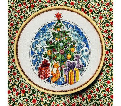 Round cross stitch pattern Christmas Tree}