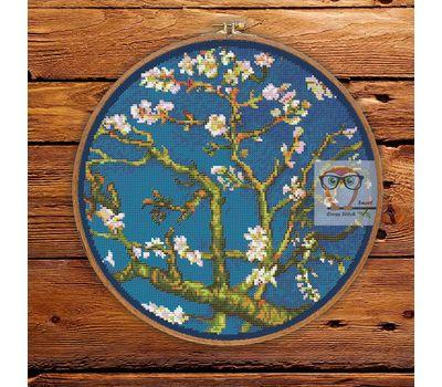 Van Gogh cross stitch pattern Almond Blossom