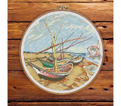 Van Gogh cross stitch pattern Boats