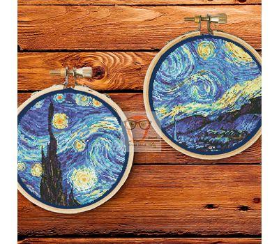 Van Gogh cross stitch pattern Starry Night