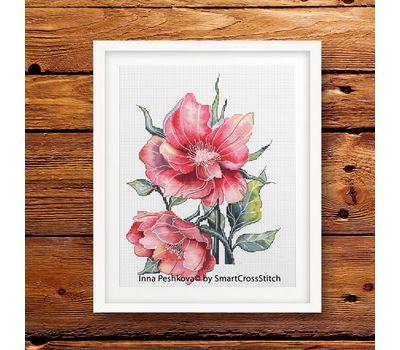 Vintage Cross Stitch pattern Wild Roses