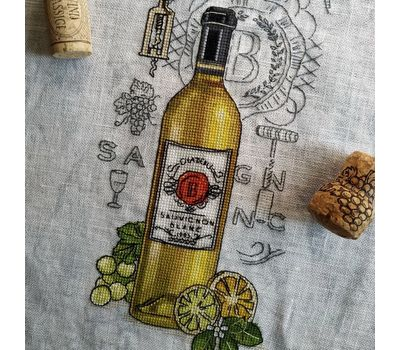 Wine Sauvignon cross Stitch pattern