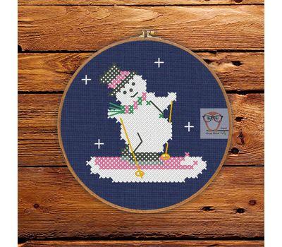 EasySnowman Christmas Stocking cross stitch pattern