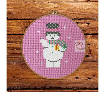 ''Snowman'' Christmas Stocking cross stitch pattern
