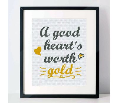 Free Quote Heart cross stitch pattern