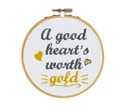 Free Love Quote Heart stitch pattern pattern free