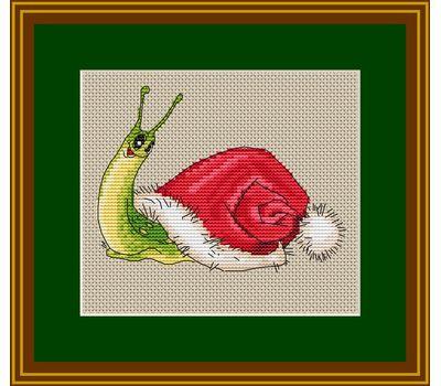 Christmas Snail Free cross stitch chart