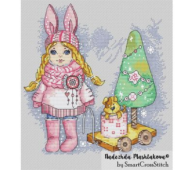 {en:Christmas cross stitch pattern Eve party;}