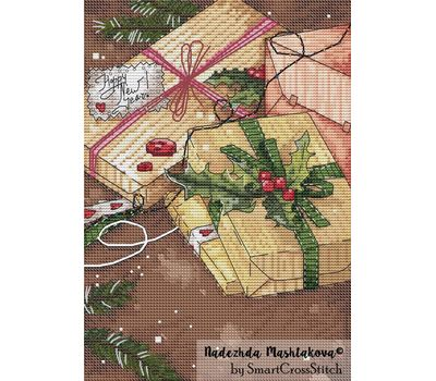 {en:Christmas cross stitch pattern Gifts;}
