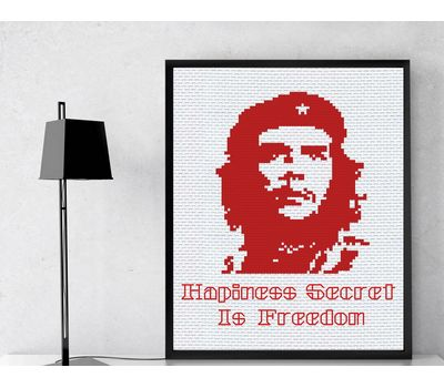 EL CHE Guevara cross stitch pattern free example