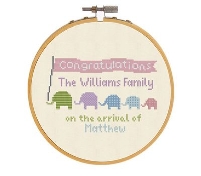 Family Birth sampler pattern