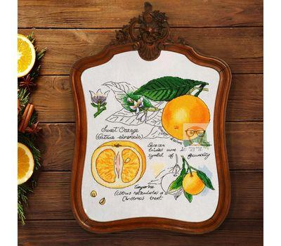 {en:Floral cross stitch pattern Orange;}