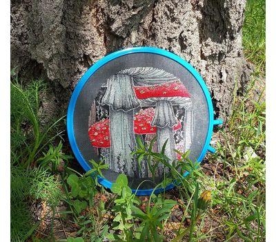 Fly Agarics cross stitch pattern stitched