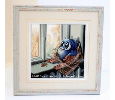 Cozy Autumn Owl Cross Stitch pattern