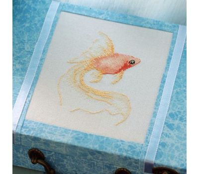 Free Golden Fish cross stitch chart download