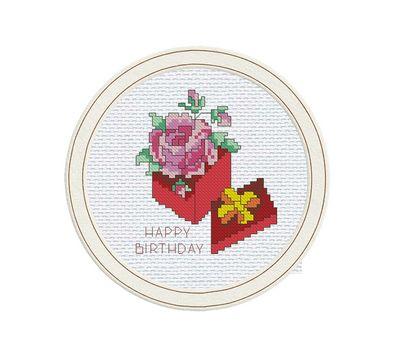 Birthday Greeting cross stitch pattern free