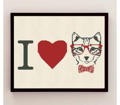 I Love Cats cross stitch download pattern