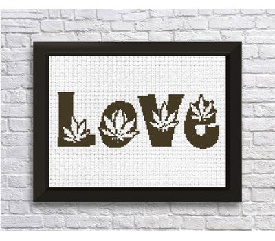 Free Cross Stitch Pattern ''Love''
