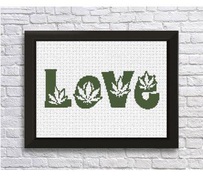 Free Cross Stitch Chart ''Love''