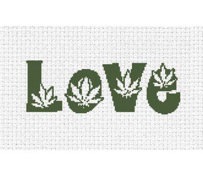 Love Free Cross Stitch Pattern