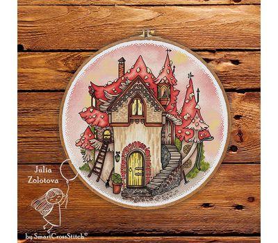 Mushroom House cross stitch pattern