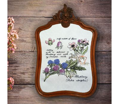 {en:Plants cross stitch pattern Blackberry;}