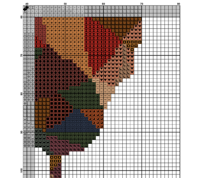 ROOSTER cross stitch pattern example free