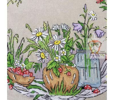 Round cross stitch pattern Summer Wreath
