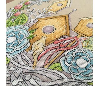 Spring Wreath round cross stitch  pattern