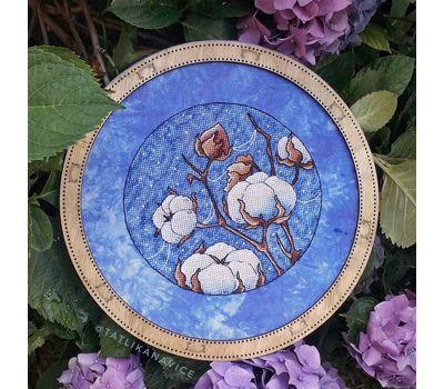 Round Cotton Plant cross stitch chart