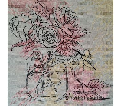 Watercolor Roses Free Cross Stitch Pattern