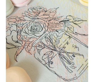 {en:Watercolor Roses Free cross stitch pattern;}