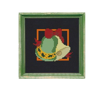 ''Magic Candles'' free cross stitch pattern for Christmas Stocking