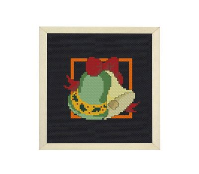 Christmas Candles cross stitch pattern example