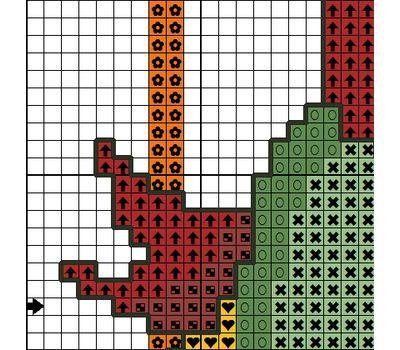 Christmas Candles cross stitch pattern free