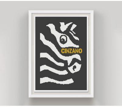Funny Cinzano cross stitch pattern