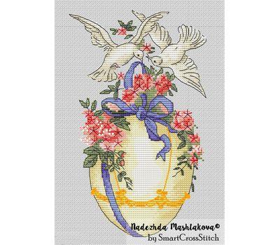 {en:cross stitch pattern Easter Egg;}