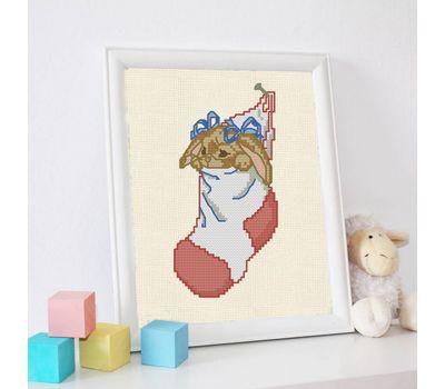 Love Bunny cross stitch pattern free