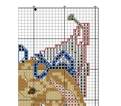 Bunny cross stitch pattern example