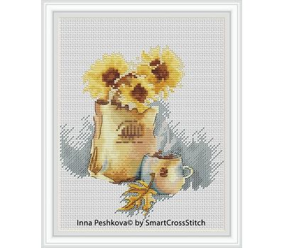 Autumn Cross Stitch pattern Sunflowers2