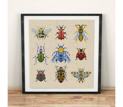 Beetles cross stitch pattern pdf