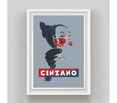 Cinzano cross stitch chart