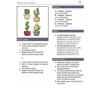 Easy plastic canvas Cactus}