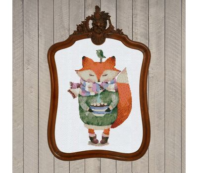 Fox & Coffee cross stitch chart pdf