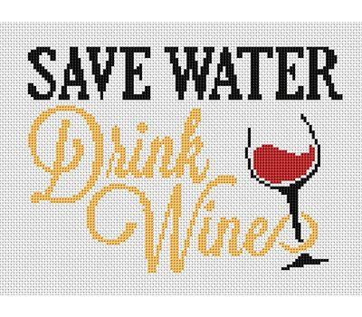 Funny Wine Saying cross stitch pattern