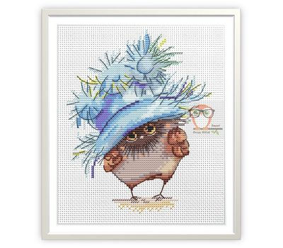 Funny cross Stitch pattern Little Owl2